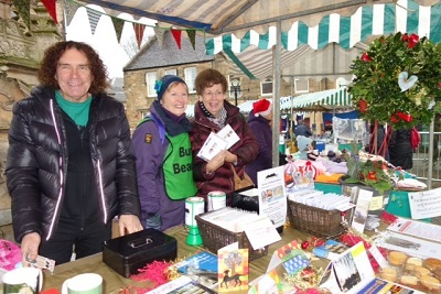 Volunteers on the Burgh Beautiful Stall at the Advent Fair
