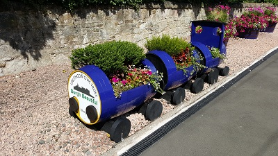 Train Planters from back