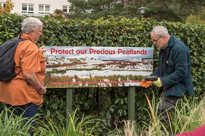 Peatland Bed Sign