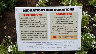 1918 Poppy Pledge Donation Details