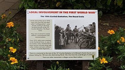 Local involvement in the First World War