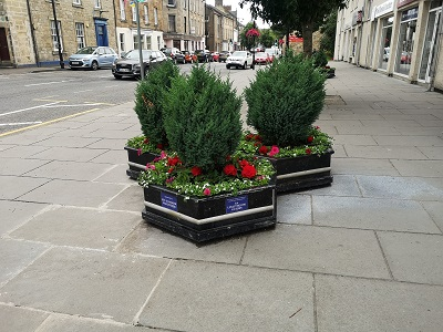 Planters Outside Sweet Shop